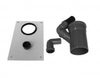 AIR Anschluss-Set für 100 mm Abwasserschlauch mit Abdeckplatte
